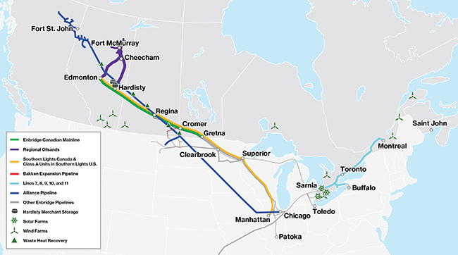 Enbridge may have 500,000 b/d solution to Alberta's pipeline